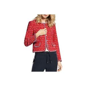 Basler Womens Red Short Metallic Cropped Jacket Outerwear 22 BHFO 1946