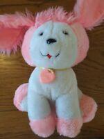 Vintage pink & white puppy dog - Poochie. 1982. Mattell