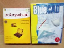 CD BLUE CAD + PC ANYWHERE Software CD for PC PER VECCHI PC