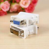 DVI D 24+1 zu/auf VGA Digital Adapter D Sub PC TFT Beamer Monitor Stecker C0C4