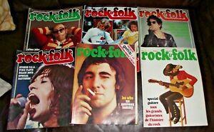 Lot 6 revue magazine Rock'n & folk jimmy hendrix lou reed elton john STONES who