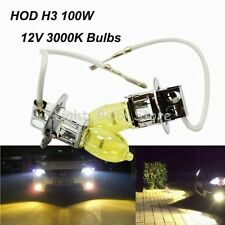 2x 3000K 100W H3 DC12V HOD Halogen Head/Fog Light Bulbs For Lexus Saab
