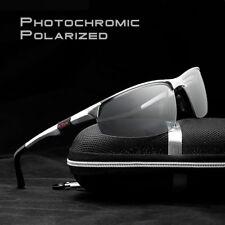 Aluminium Men Polarized Photochromic Sunglasses UV400 Driving Transition Glasses