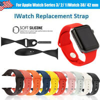 Replacement Sports Silicone Bracelet Strap Band for Smart Watch iWatch-Size S/M
