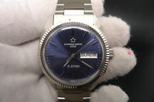 NEW OLD STOCK ETERNA MATIC 1000 5 STAR BLUE DIAL SWISS 2824 AUTOMATIC MEN WATCH
