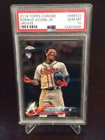 2018 Topps Chrome Update Ronald Acuna Jr. Rookie PSA 10 GEM Atlanta Braves RC