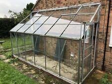 Large Lean-To Garden Greenhouse. Glass/plastic Windows, Aluminium Frame.