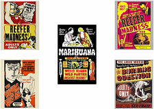 Reefer Madness Poster Set - anti marijuana film movie 4 at 11x14in 1 at 11x17in