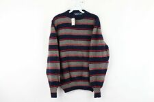NOS Vintage 80s Wentworth Mens Large Long Sleeve Striped Crewneck Sweater Wool
