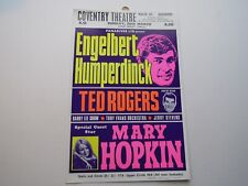 MARY HOPKIN ENGELBERT HUMPERDINCK COVENTRY THEATRE SMALL UK POSTER