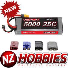 Venom 1558 Lipo 2S 7.4V 5000mAh 25C Batterie Lipo TRX Doyens EC3 XT60 Connecteur