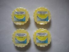 4 Wrapped Yankee Candle Simply Home Wax Tarts for melting Citrus Water
