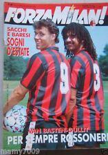 FORZA MILAN!=N°7/8 1989 ANNO XXI=VAN BASTEN E GULLIT COVER=NACIONAL DI MEDELLIN