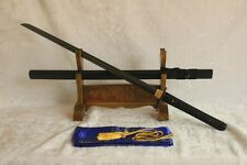 BLACK STEEL BLADE Hand Forged Japanese Ninjato Sword Black Kuro Chokuto Blade