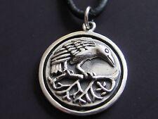 Rabe Amulett 925 er Silber Anhänger Ketten Anhänger    / KA 140