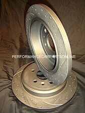 DRILLED & SLOTTED BMW E46 316i 318i 3 Series REAR Disc Brake Rotors NEW PAIR