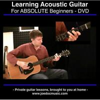 Learn How To Play Guitar DVD * Easy Lessons * Acoustic or Electric for Beginners