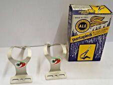 Vintage eroica  puntapiedi toe clip Ale  ROAD CORSA BIKE 4 ferma piedi Alpino