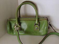Vintage Michael Kors Authentic Shoulder Bag Purse handbag Green Leather