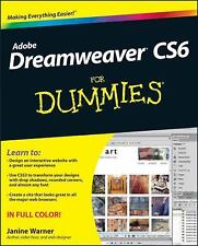 Dreamweaver CS6 For Dummies, Warner, Janine, Good Condition, Book