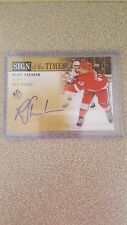2012 13 SP Authentic Riley Sheahan SIGN OF THE TIMES autograph DETROIT RED WINGS