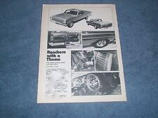 """1966 Ford Ranchero Vintage Street Machine Article """"Ranchero with a Theme"""""""