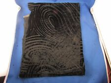 ancien coupon tissus  soierie et velours epoque art deco antique fabric noir 6