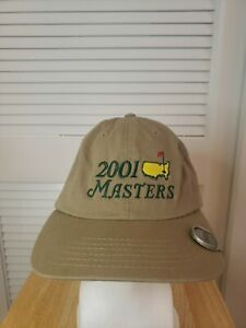 Vintage 2001 Masters Strapback Hat American Needle With Ball Marker