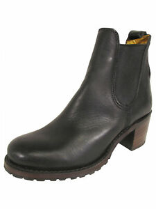 $418 Frye Womens Sabrina Chelsea Leather Ankle Boots, Black, US 7