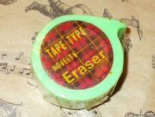 VINTAGE 80's GREEN TAPE ROLL ERASER GOMME SEALED