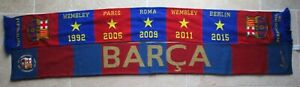 Lot 2 écharpe F.C BARCELONE BARCELONA bufanda Champions League scarf sciarpa