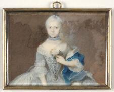 "Juda Pinhas ""Portrait of a little princess"", fine miniature, ca. 1750"