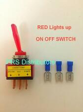 RED Illuminated ON OFF TOGGLE SWITCH for Car Truck Boat Electronic projects