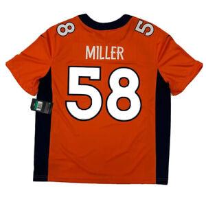 New Von Miller Orange Denver Broncos Stitched XL Size Vapor Limited Nike Jersey