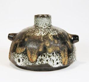Ruscha 348 - 60s/70s FAT LAVA Keramik - West German Ceramic Vase - Ø 15,5cm