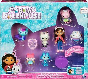 Gabby's Dollhouse DELUXE FIGURE SET Gabby CATRAT Pandy BOXCAT Cakey FAIRY Mercat