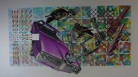 "Peter Phillips:  britische Pop-Art ""Select-o-Matic Tempest I"" 1972 Lithografie"