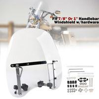 Clear Windshield Windscreen For Universal 7/8'' 1'' Harley Sportster Dyna Honda