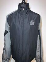 Admiral Black Grey Men's Rain Zip Jacket Coat Windbreaker Retro XXL VGC