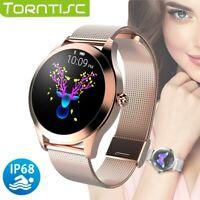 NEU Frauen Damen Smartwatch Armband Pulsuhr Fitness Track Sportuhr Schrittzähler