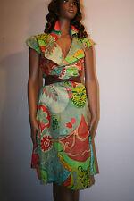 Geblümte Damenkleider mit V-Ausschnitt für Cocktail-Anlässe