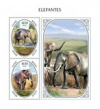 Guinea-Bissau - 2018 Elephants - 2 Stamp Souvenir Sheet - GB18803b