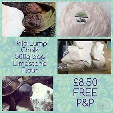 1kg Lump Chalk, 500g Limestone flour, Calcium For Tortoises FREE SEEDS