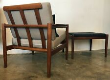 Danish Modern Mid Century Borge Jensen and Sonner Teak Chair and Rare Ottoman & Danish Modern Antique Chairs 1950-Now for sale | eBay