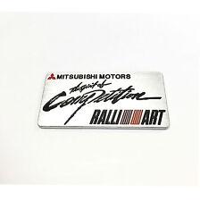 For Mitsubishi Ralliart Emblem Metal Silver GRS EVO ES RS Eclipse Galant Lancer