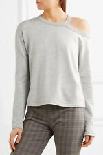 Rag Bone Jersey Top Cut Out Size Small Marl Grey Long Sleeve Sky RRP £155