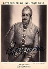 LUDWIG HOFMANN opera bass signed photo as Koenig Heinrich in Lohengrin, Bayreuth