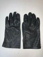 Women Black Leather Top 3 V-Stitch Insulated Line Glove/ Vent on Palm Size 8