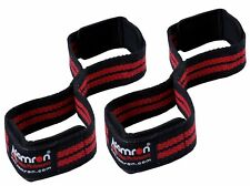 Aamron Weight Lifting Gym Strap Figure 8 Padded Cuff Straps Wrist Support