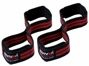 Aamron ® Weight Lifting Gym Strap Figure 8 Padded Cuff Straps Wrist Support